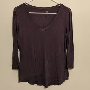 Grey 3/4 Sleeve Top